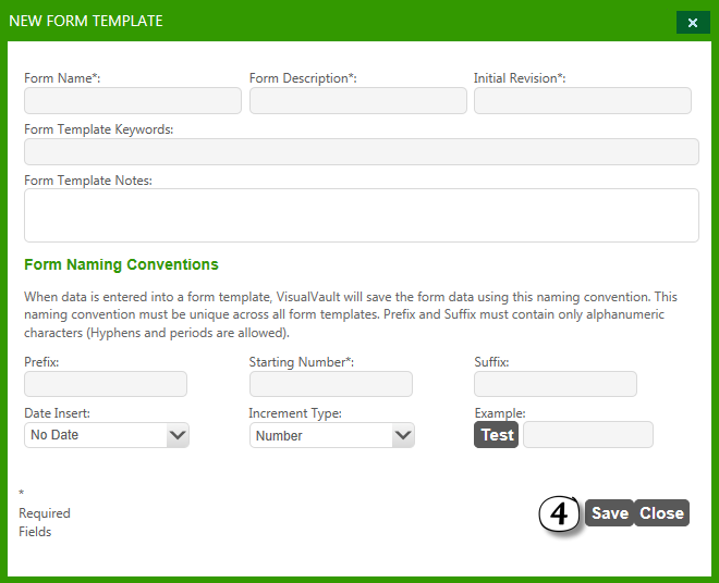 Form Templates – Increment Form